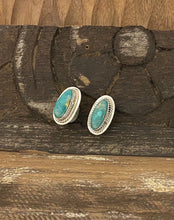 Load image into Gallery viewer, Earrings -Emerald Valley turquoise earrings on posts