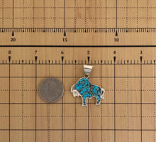 Load image into Gallery viewer, Inlay - buffalo pendant