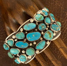 Load image into Gallery viewer, Bracelet - Multi turquoise cuff bracelet