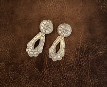 Load image into Gallery viewer, Earrings - Silver stamped earrings