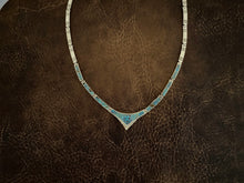 Load image into Gallery viewer, Necklace - #8 turquoise inlay necklace