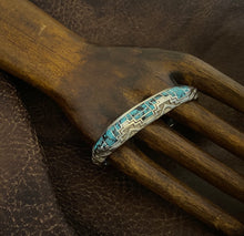 Load image into Gallery viewer, Inlay - turquoise cuff bracelet.