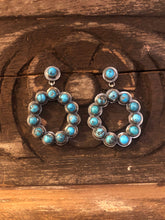 Load image into Gallery viewer, Earrings - Multi stone turquoise earrings