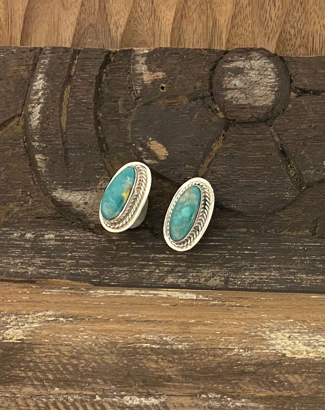 Earrings -Emerald Valley turquoise earrings on posts