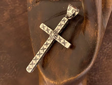 Load image into Gallery viewer, Pendant - stamped cross pendant