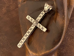 Pendant - stamped cross pendant