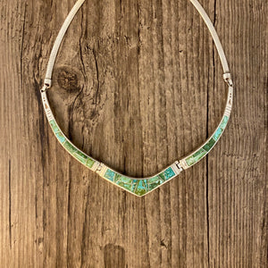 Inlay - Sonoran turquoise inlay necklace