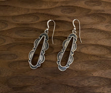 Load image into Gallery viewer, Earrings - silver stamped earrings.