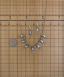 Necklace - All silver necklace with earrings set