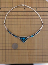 Load image into Gallery viewer, Inlay - turquoise and black jade necklace