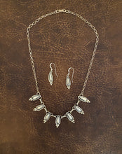 Load image into Gallery viewer, Necklace - All silver necklace with earrings set