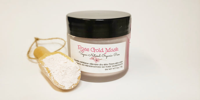 Rose Gold Gentle Detox Mask - ORNĀTU - Organic Cosmetics