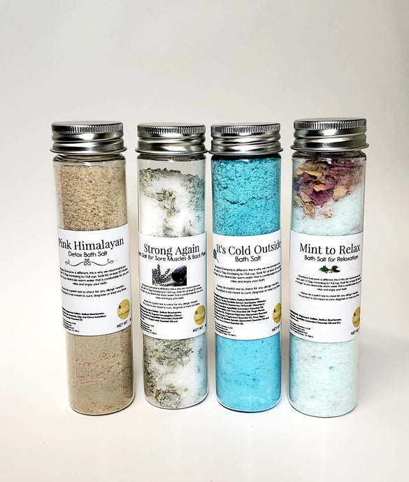 4 Bath Salts Bundle - ORNĀTU - Organic Cosmetics