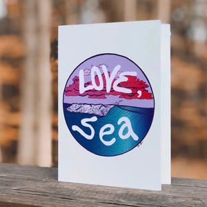 """Love Sea"" Greeting Card"