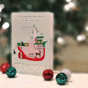 """Merry Fishmas"" Greeting Card"