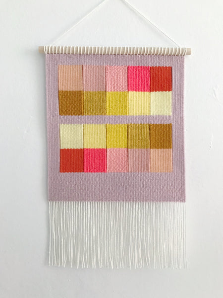 Flat Gradient: Mauve, Pink and Yellow