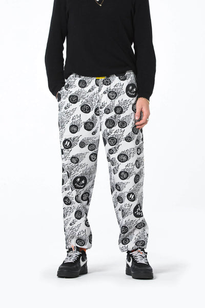 Mens Elastic Cuff Grazer Pant - Flaming Faces