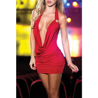 Deep V-Neck Bandage Bodycon - Online-store