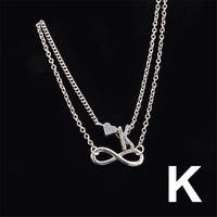 Initial Anklet Heart Infinity with 26 different alphabets - Online-store