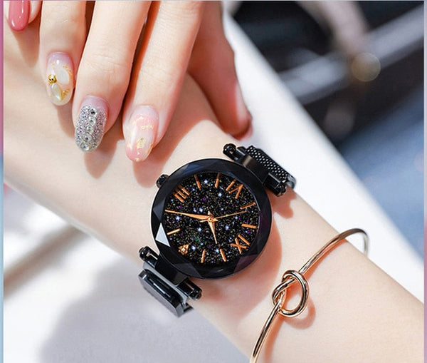 Ladies Watch Women Watch Magnetic Starry Sky - Online-store