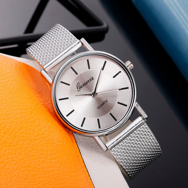 High-end Blue Glass Life Waterproof Distinguished Female Clock Quartz Wristwatch - Online-store