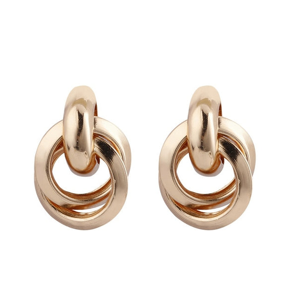 Flashbuy Gold Silver Alloy Drop Earrings - Online-store