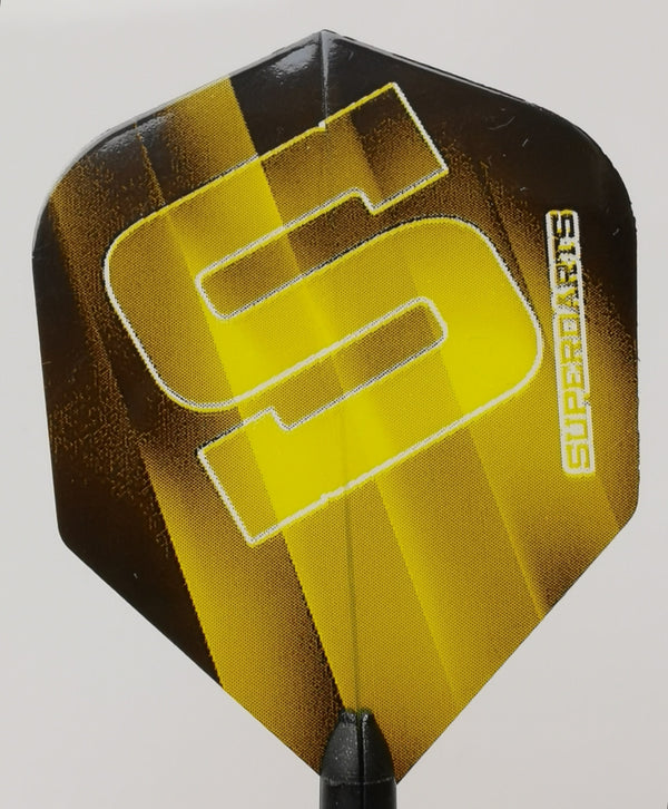 SUPERDARTS S FLIGHTS YELLOW