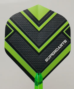 Superdarts Flights ,Green, 100 micron