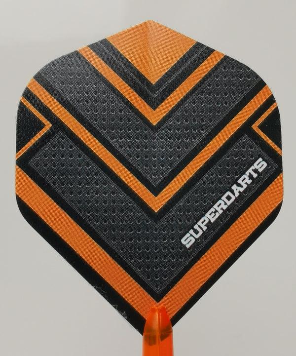 Superdarts Flights Orange, 100 micron