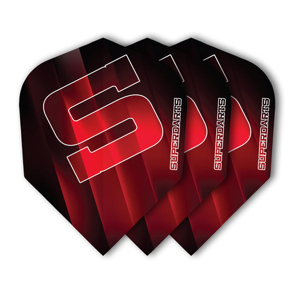 SUPERDARTS S FLIGHTS RED