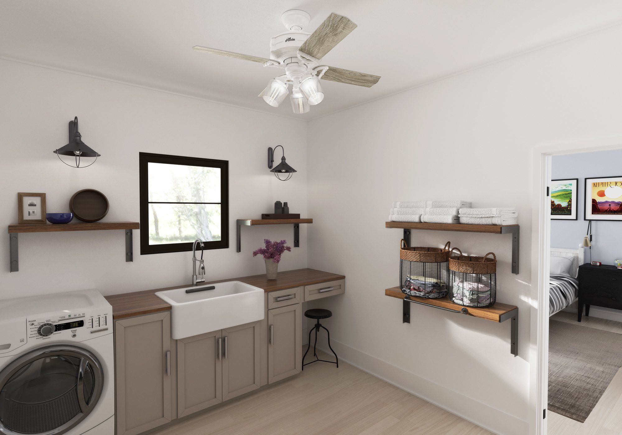 Our Favorite Spaces The Modern Laundry Room Hunter Fan