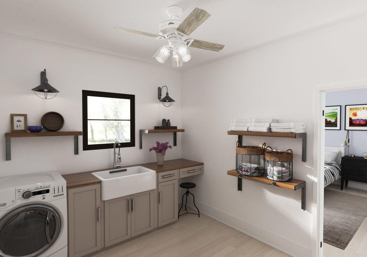 Our Favorite Spaces  The Modern Laundry Room U2013 Hunter Fan