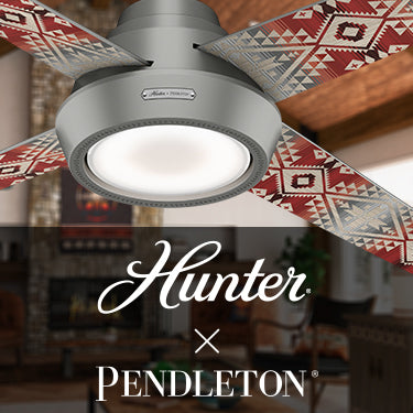 The Pendleton Collection by Hunter. Southwest pattern overlays modern living room.