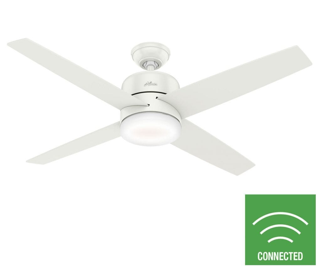 Advocate SIMPLEconnect wifi ceiling fan with light.