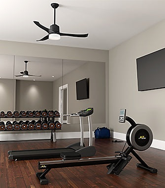 Gym with a Ceiling Fan | Hunter Fan