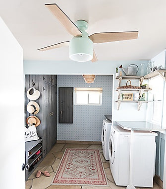 Laundry Room with a Ceiling Fan | Hunter Fan