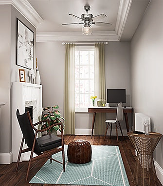 Office with a Ceiling Fan | Hunter Fan