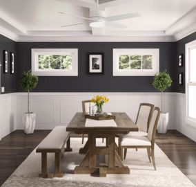 Advocate 54-inch ceiling fan in dining room