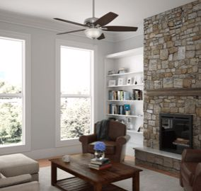 Newsome 56-inch ceiling fan in living room
