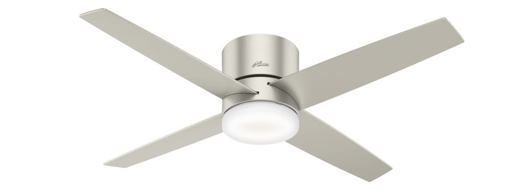 Advocate Hunter low profile ceiling fan that works with Apple HomeKit, Amazon Alexa, and the Google Assistant