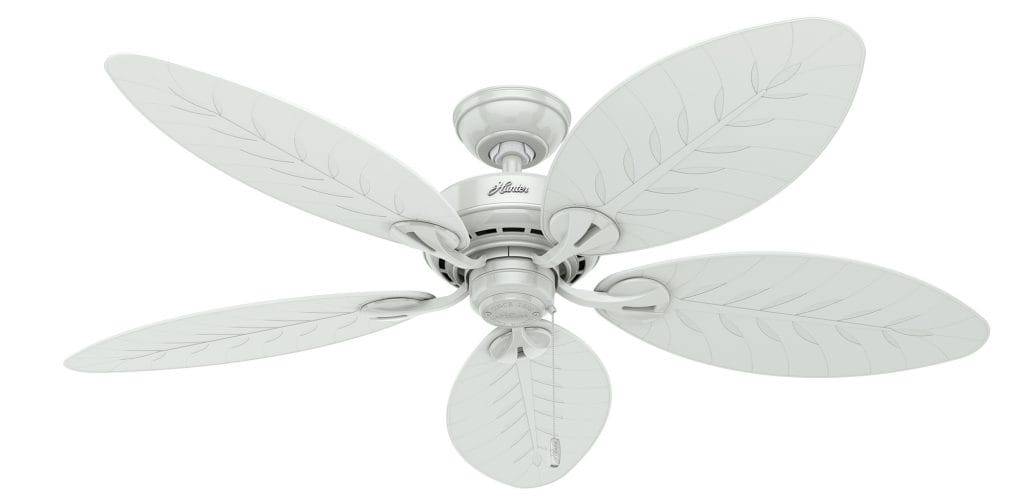 Bayview outdoor tropical ceiling fan by Hunter