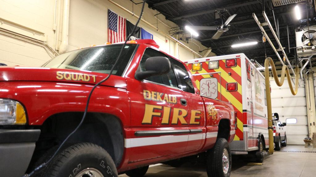 DeKalb Fire Station installs Hunter XP industrial ceiling fan for best airflow control system
