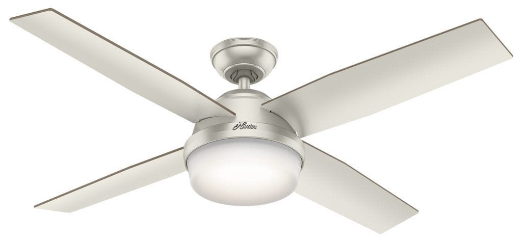Dempsey Hunter outdoor ceiling fan with light for modern porches and patios