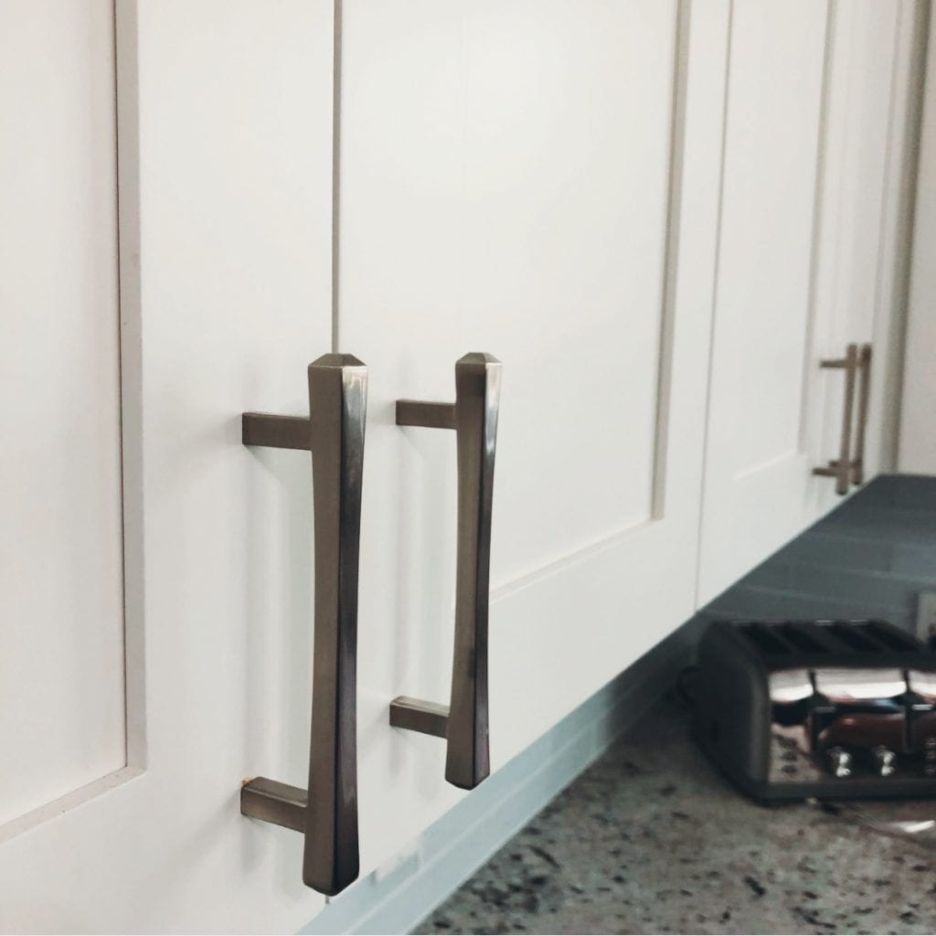 up close image of cabinet handles