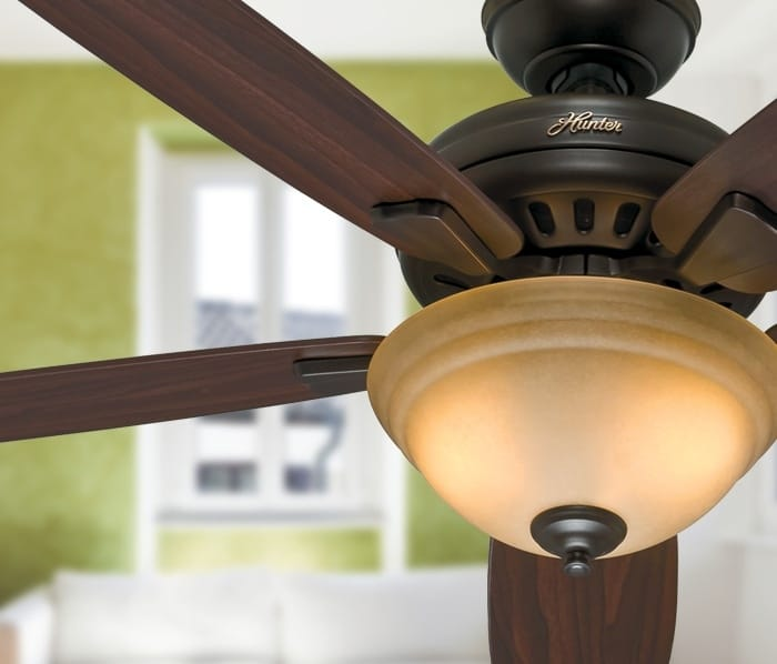 Hunter Granville traditional ceiling fan with light