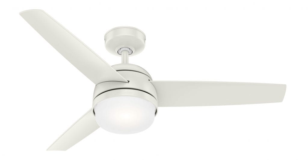 Hunter Midtown small white ceiling fan for apartments