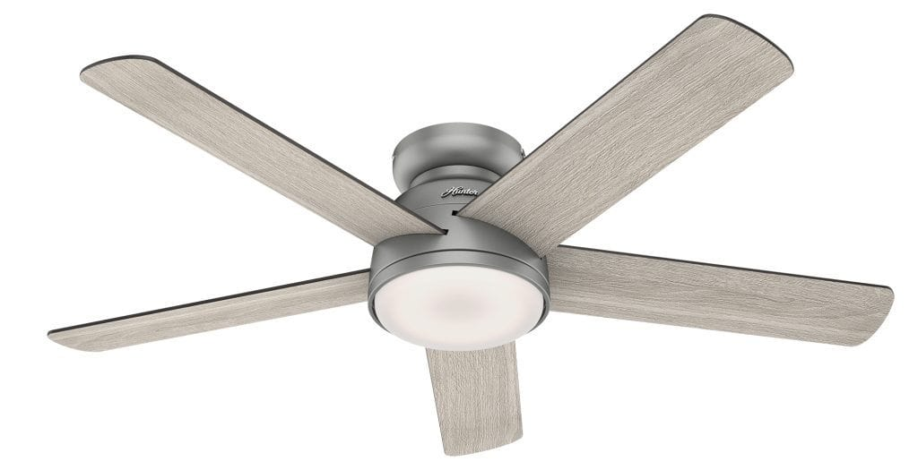 Romulus Hunter SIMPLEconnect smart ceiling fan with LED light for sunroom ceiling fan ideas