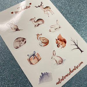 Winter Wildlife Sticker Sheet