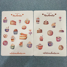 Load image into Gallery viewer, Desserts & Sweets Sticker Sheet Bundle