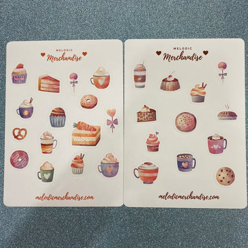 Desserts & Sweets Sticker Sheet Bundle